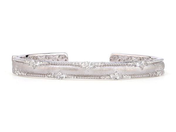 Beaded White Topaz Bangle