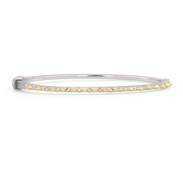 Mixed Metal Narrow Bangle
