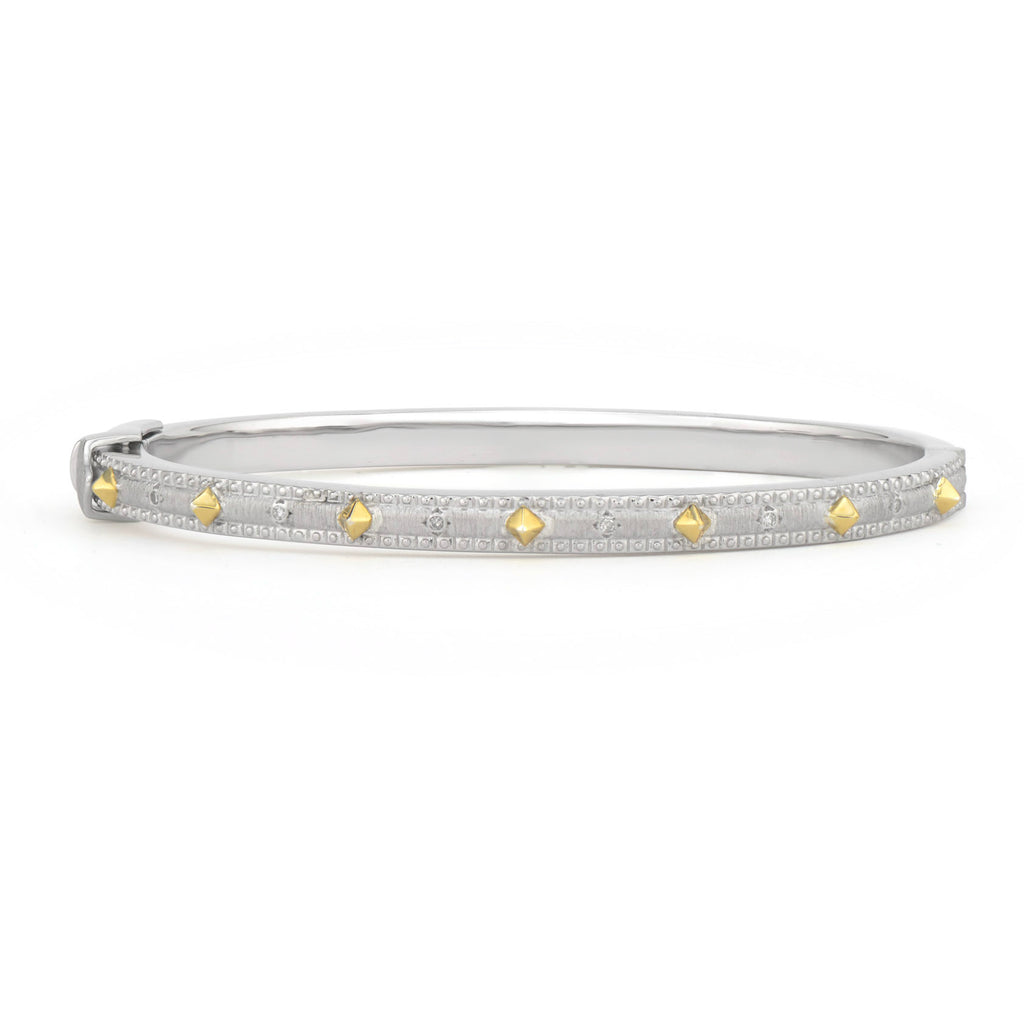 Mixed Metal Silver Bangle