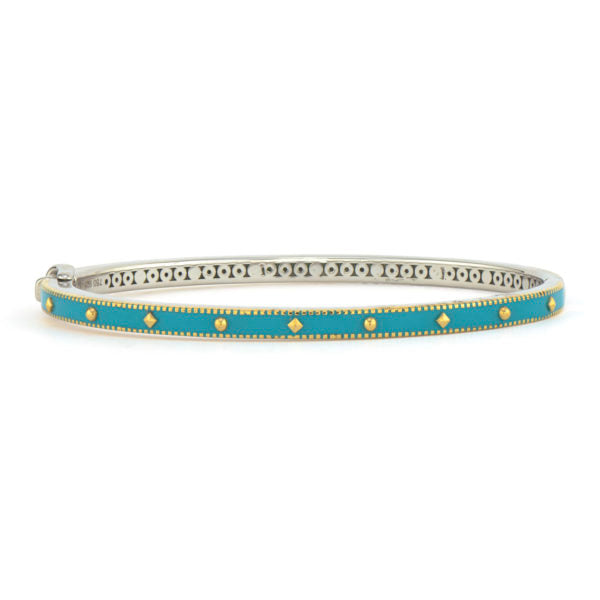 Narrow Mixed Metal Bangle