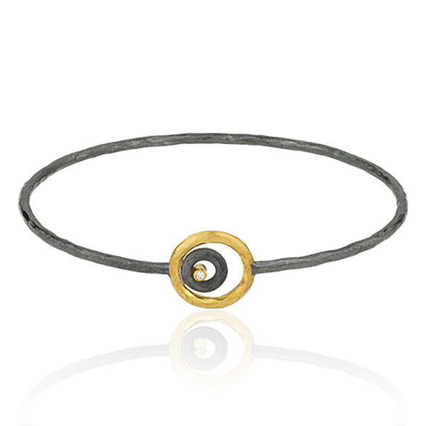 Single Gold and Silver Circle Bracelet