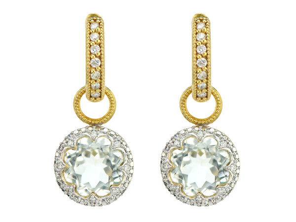 White Topaz Earring Charms