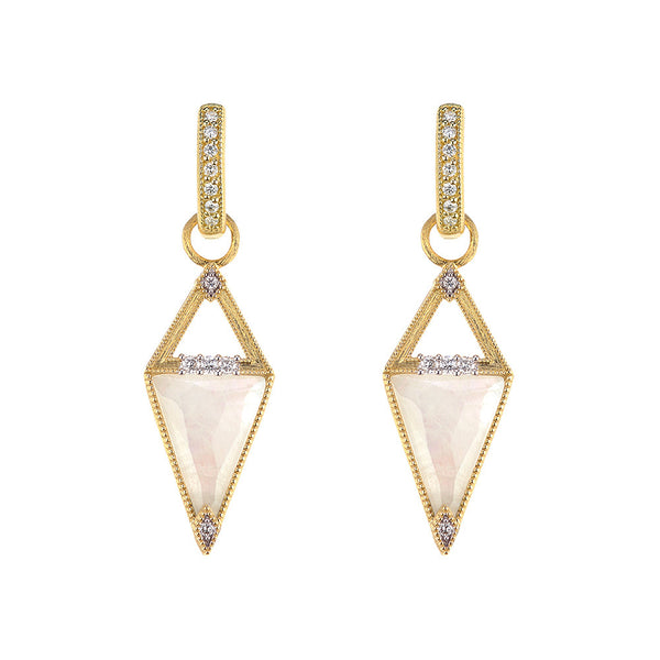 Trillion Faceted Moonstone Earring Charms