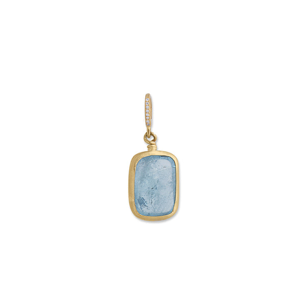 Aquamarine Pendant with Enhancer
