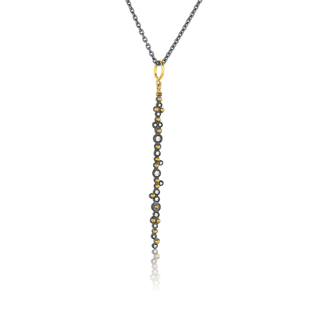 Long Bar Gold and Silver Necklace