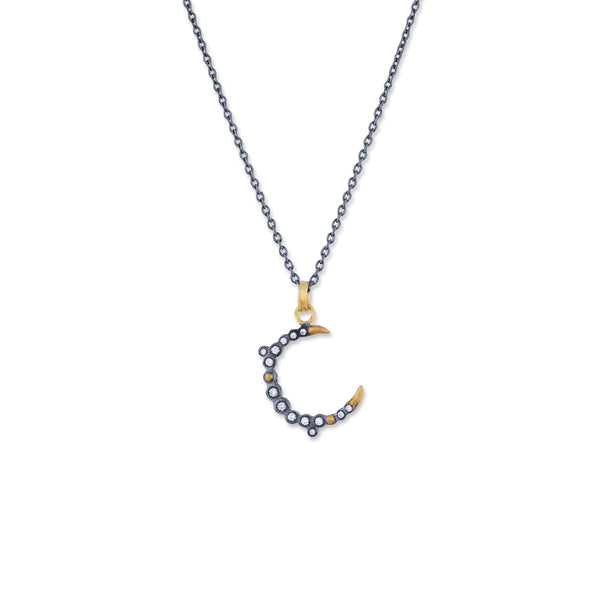 Diamond New Moon Necklace