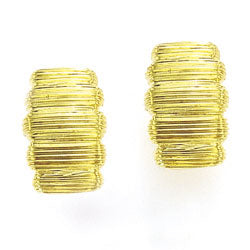 Ribbed Clip Earring