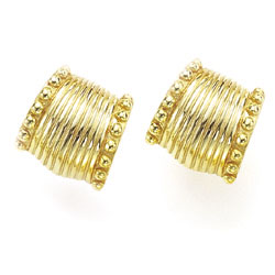 Clip Earrings with Knobbed Side