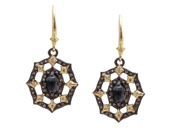 Hematite Doublet Earrings