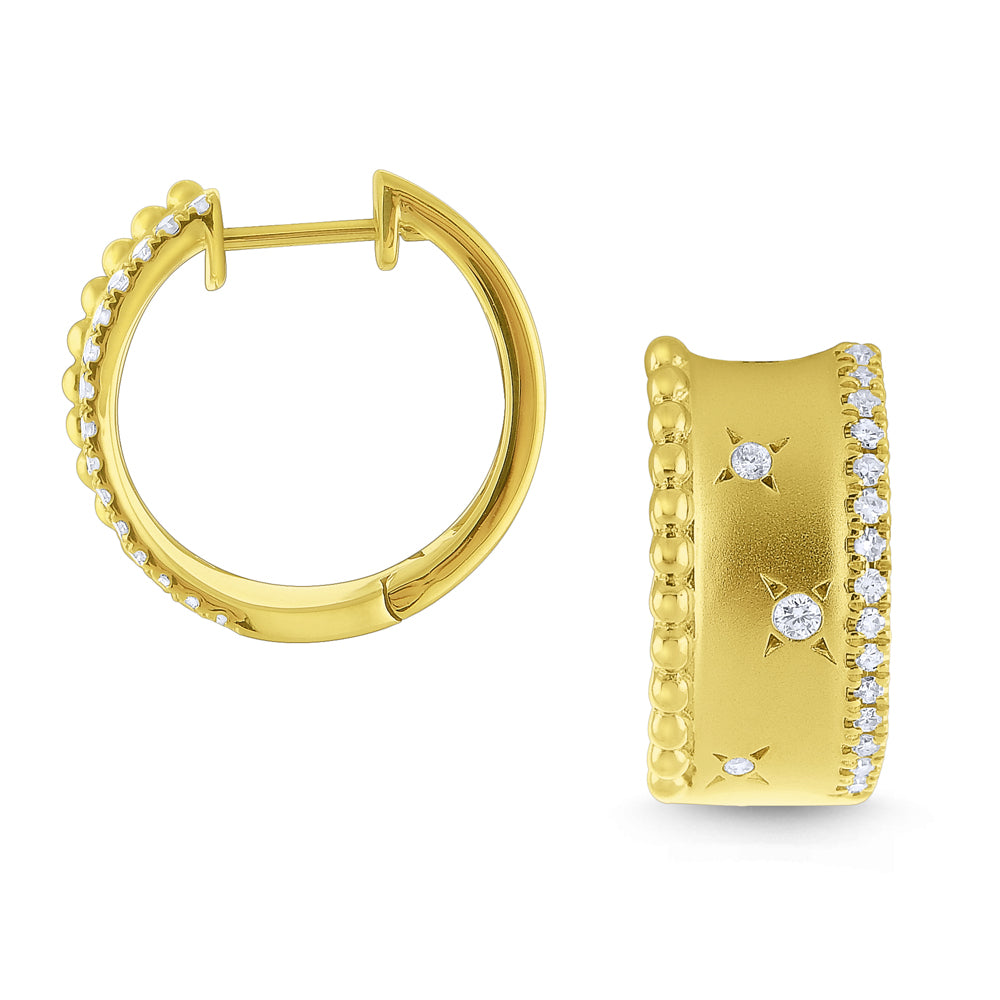 Wide Gold Starburst Hoops