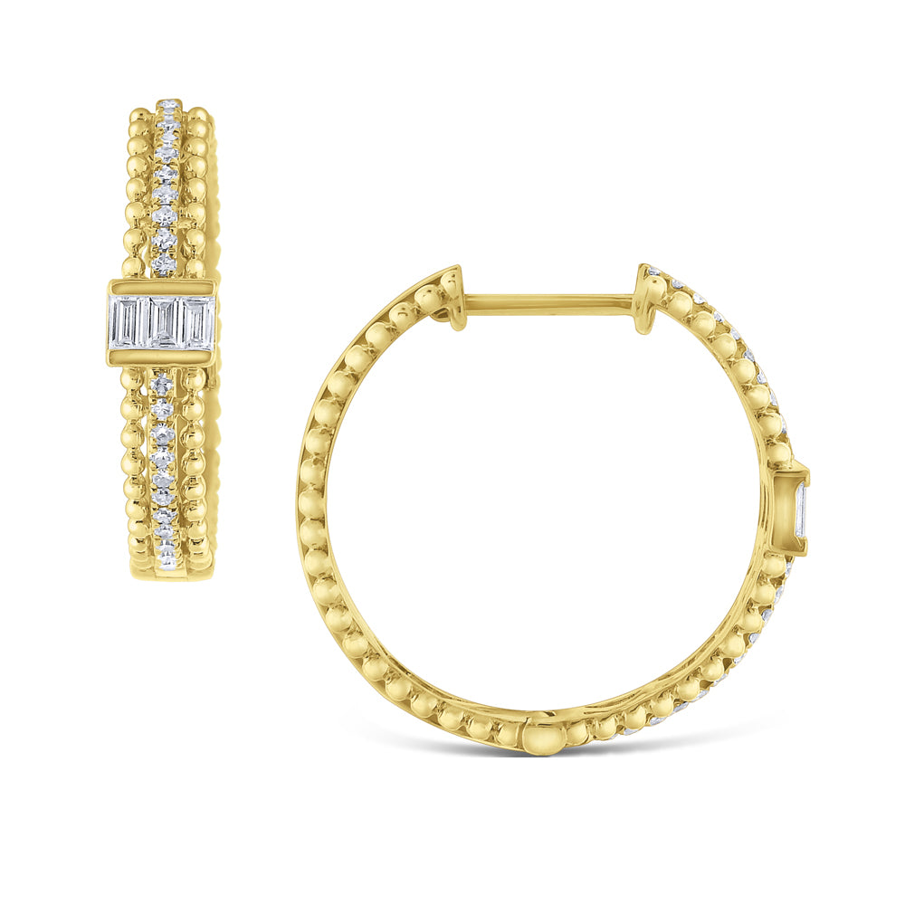 Diamond Mosaic Hoop Earrings