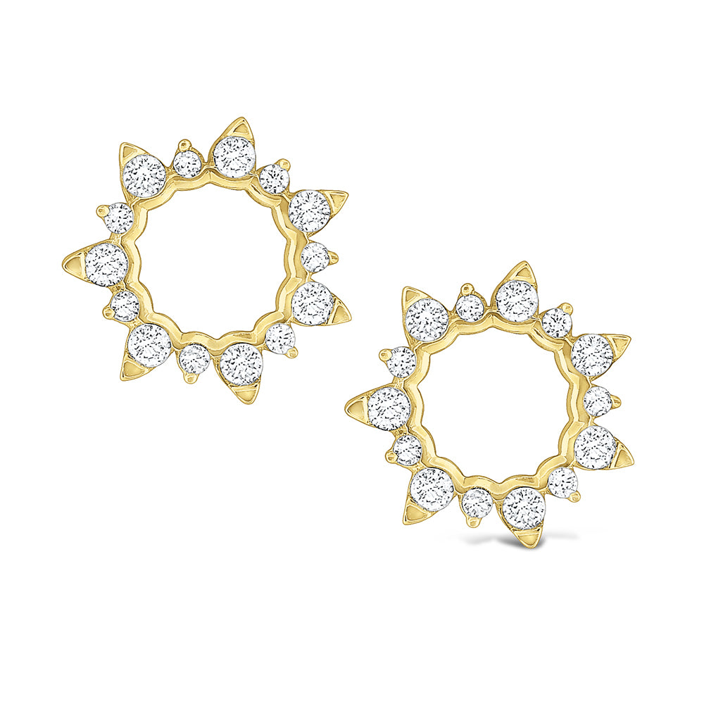 Open Starburst Circle Earrings