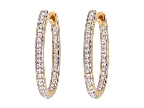 Large Oval Hoop Earrings