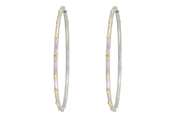 Extra Large Mixed Metal Hoops