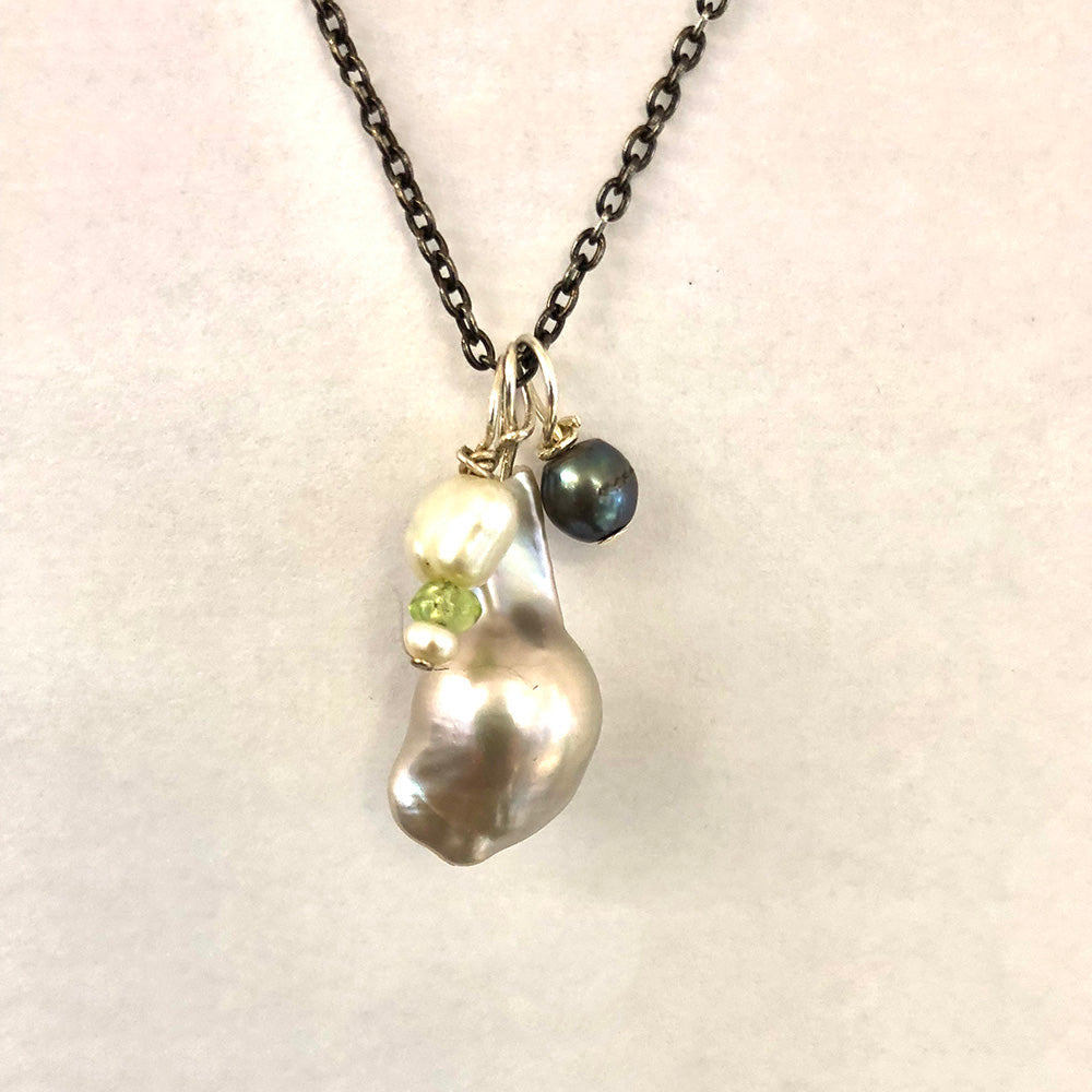 Grey Baroque Freshwater Pearl Necklace