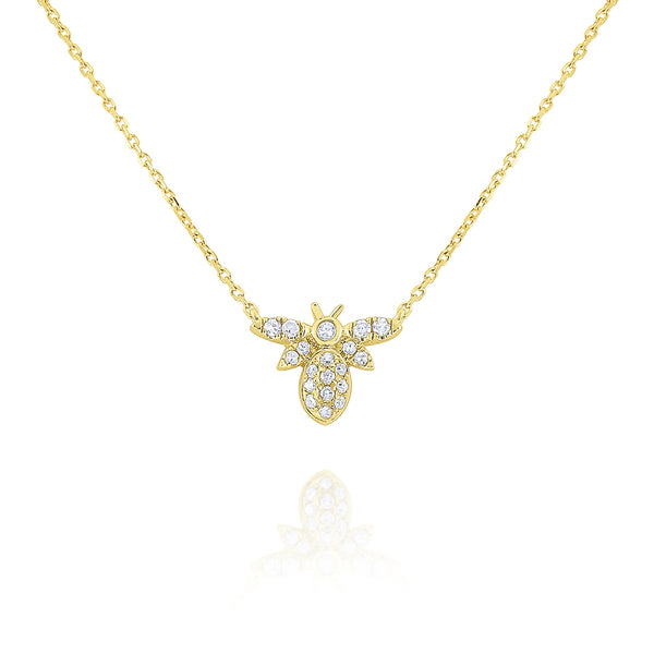 Diamond Mini Bee Necklace