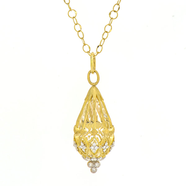 Pear Shaped Diamond Pendant