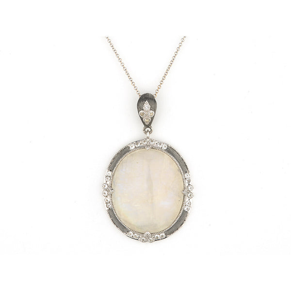 Moonstone Oval Pendant