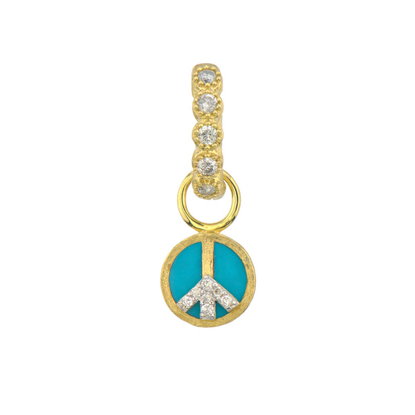Petite Peace Sign Charm