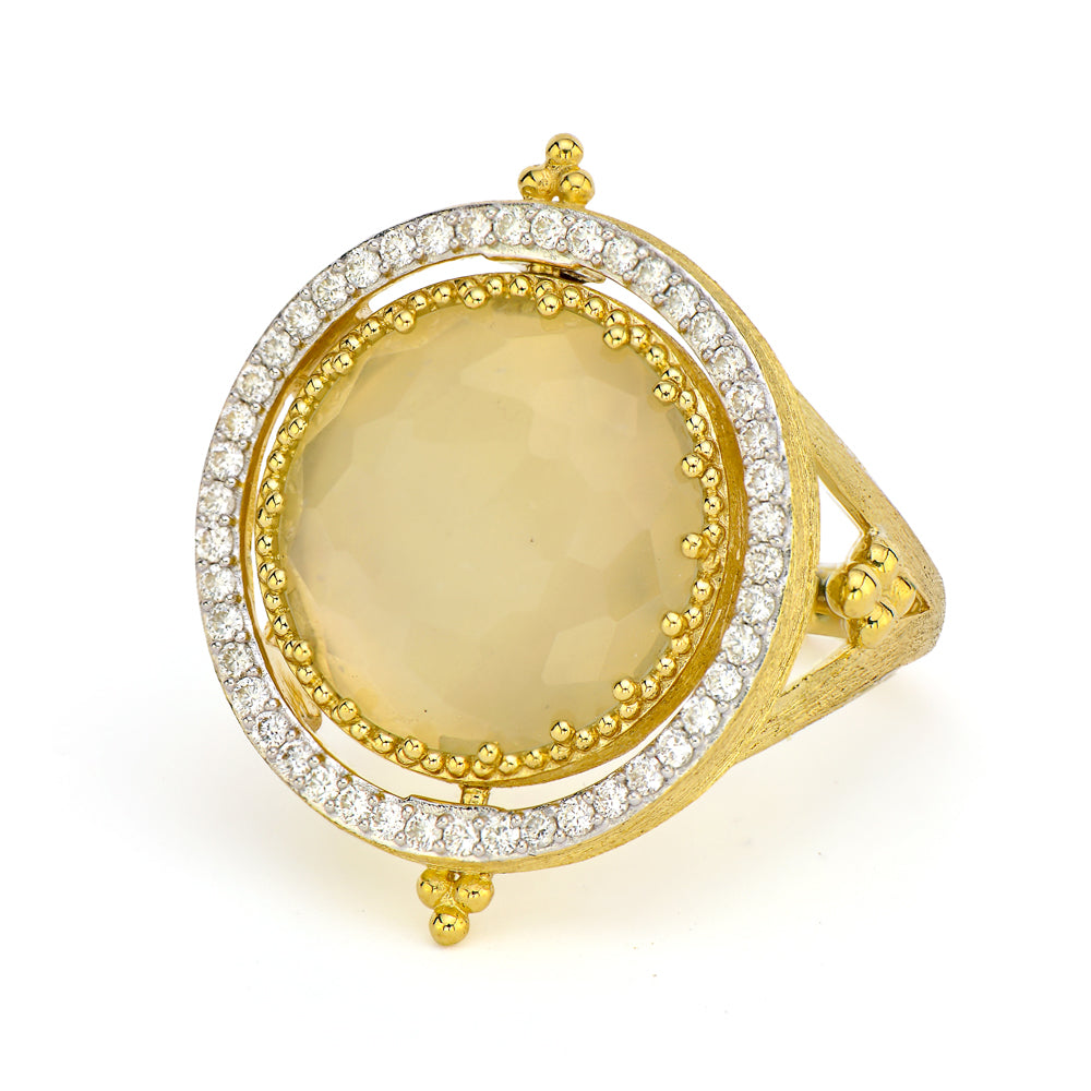 Moonstone Halo Ring