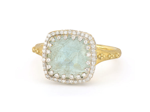 Trio Cushion Stone Ring