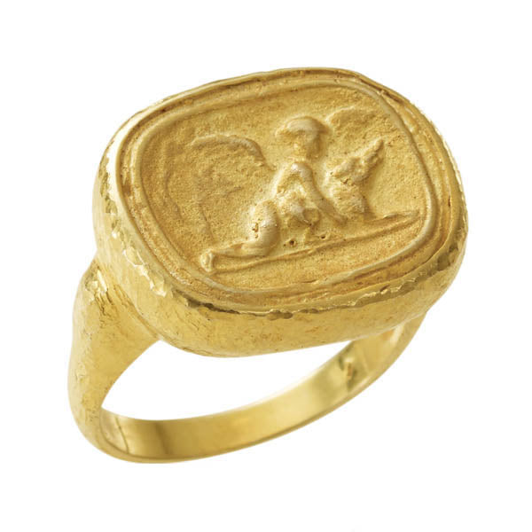 Pompei Hammered Ring