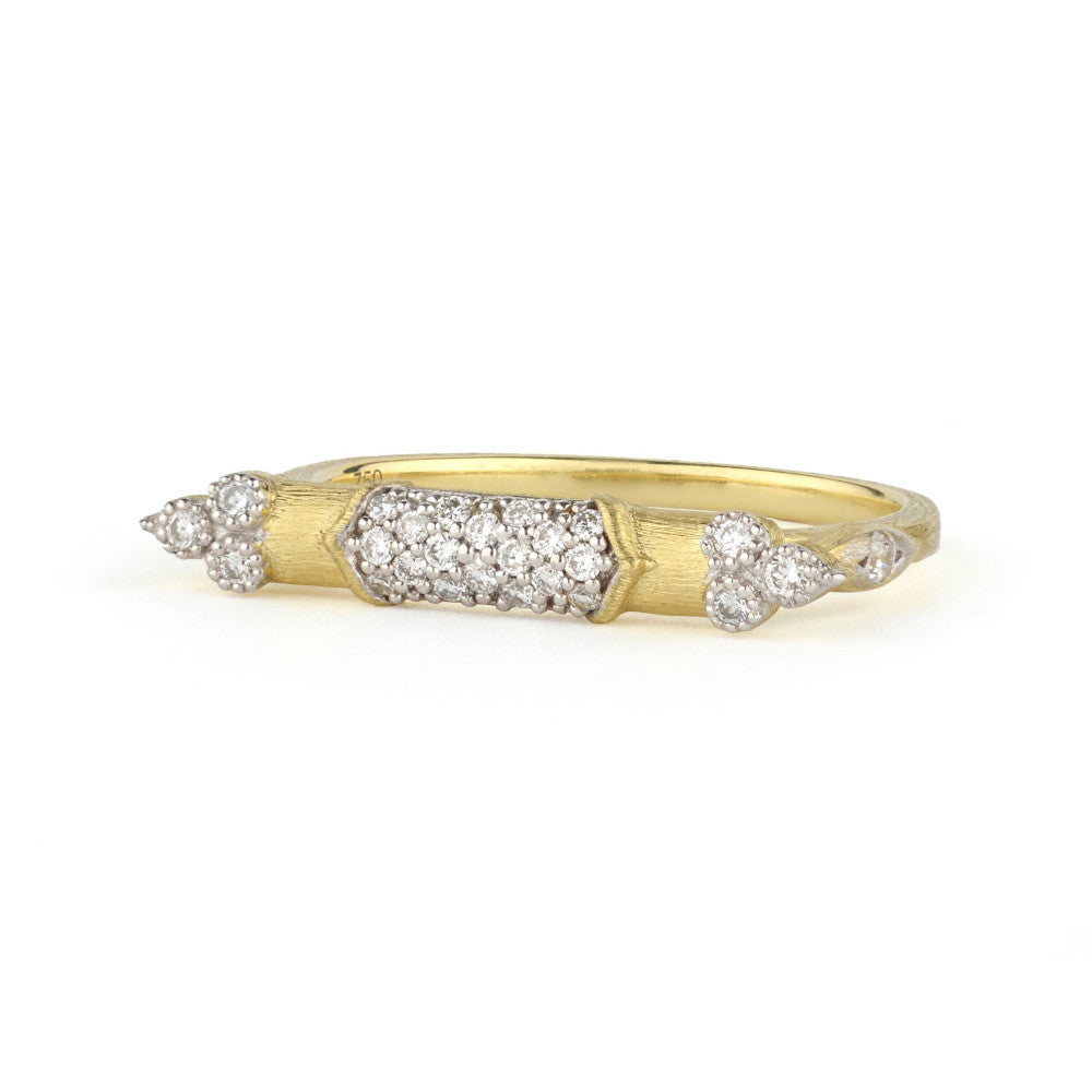 Diamond Yellow Gold Stack Ring