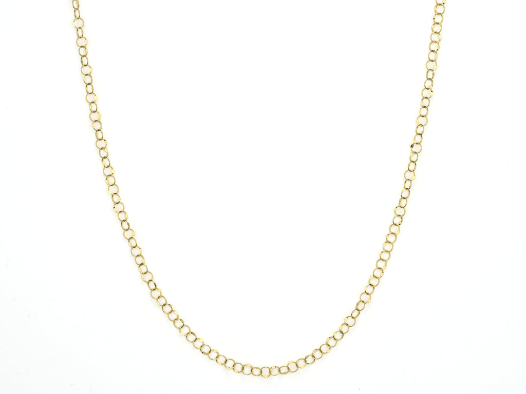 Hammered Circle Chain
