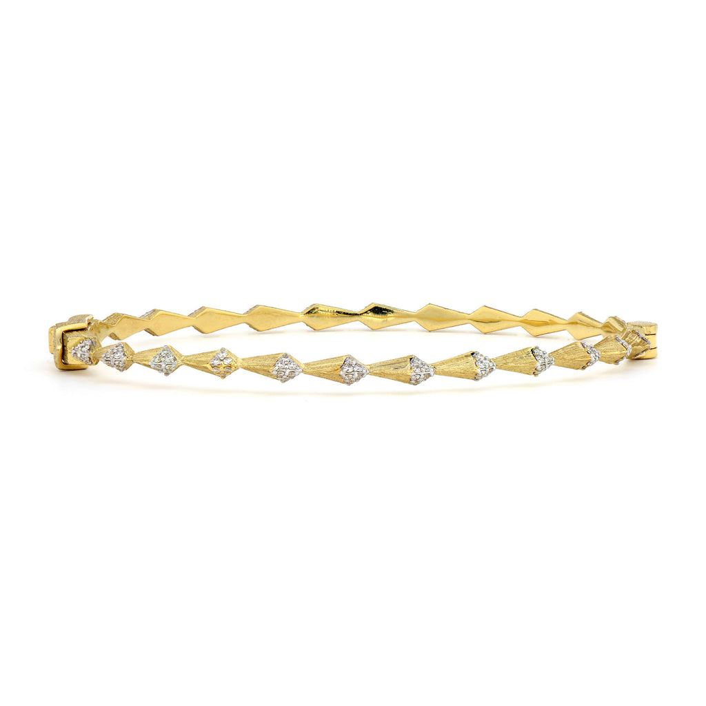 Tiered Pave Pyramid Bangle