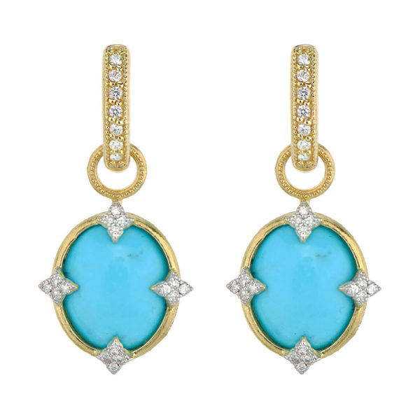 Small Oval Turquoise Earring Charms