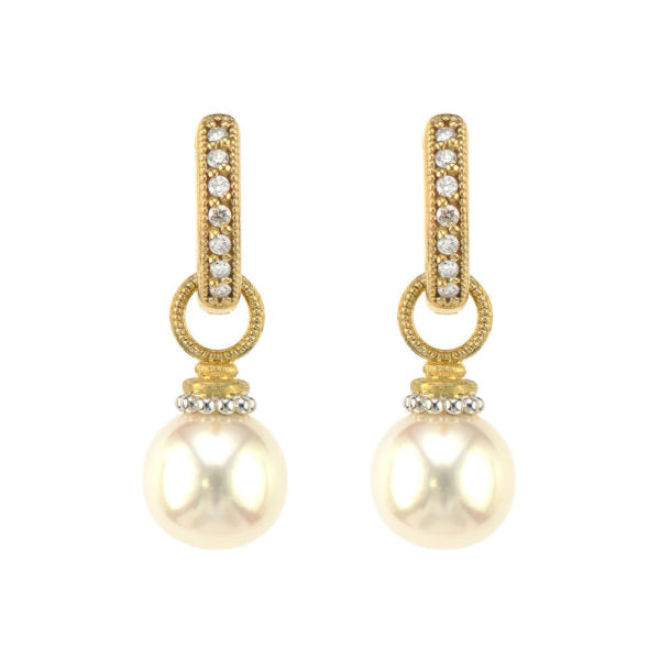 Beaded Pearl Earring Charms