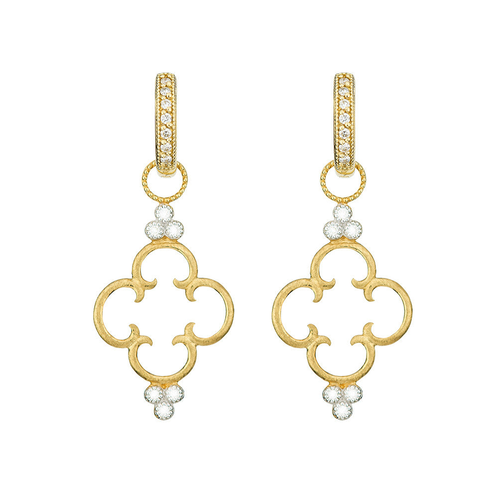 Simple Clover Diamond Trio Earring Charm