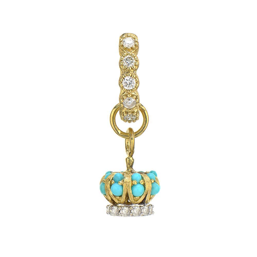 Petite Turquoise and Diamond Crown Charm
