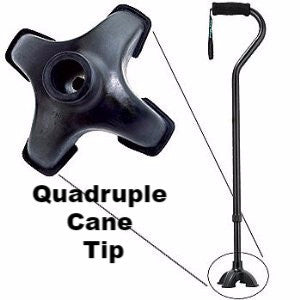 Quadruple Cane tip for Walking Canes