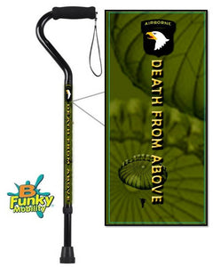Military Walking Cane US Army Airborne Offset Adjustable Men or Women Veteran BFunkyMobility