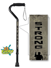 Offset Style Walking Canes for Military Branch or Veterans