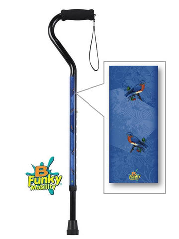 Birds & Blooms Offset style Walking Canes