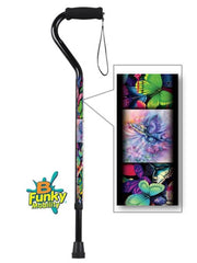 Butterflies Offset Walking Canes adjustable aluminum bfunkymobility