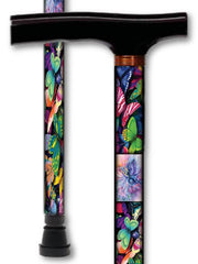butterflies floral t handle walking cane