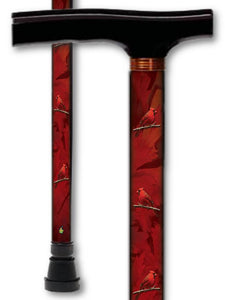 T Handle Walking Canes with Birds and Animal Patterns
