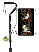 Load image into Gallery viewer, walking cane offset with cats adjustable men or women fashionable bfunkymobility