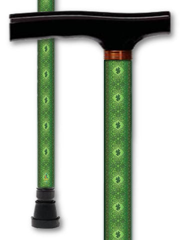 T Handle Derby Style Walking Canes with Irish Patterns
