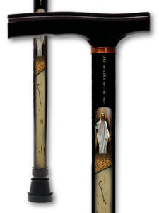 T Handle Derby Style Walking Canes with Inspirational Patterns