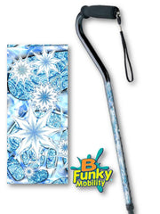 Snowflake Offset Fractal artwork foam handle walking cane holiday christmas