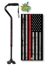 Load image into Gallery viewer, Offset Style Walking Canes for Military Branch Veterans Police Fireman