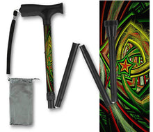Load image into Gallery viewer, Folding Walking Cane Holiday Design Christmas Collapsible Travel BFunkymobility