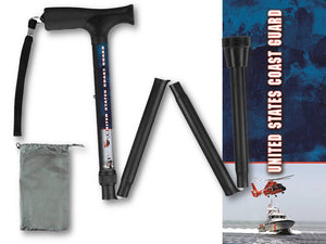 Folding Walking Cane Coast Guard Collapsible Travel Military Men or Women Fashionable BFunkyMobility