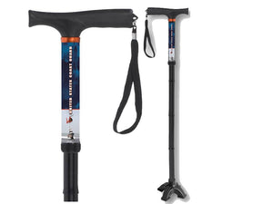 Folding Walking Cane US Coast Guard Hurry Cane Collapsible Travel Military Men or Women Fashionable BFunkyMobility