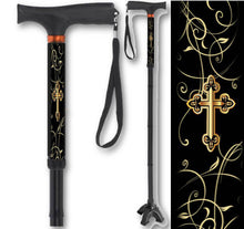 Load image into Gallery viewer, Folding Walking Canes Inspirational Designs