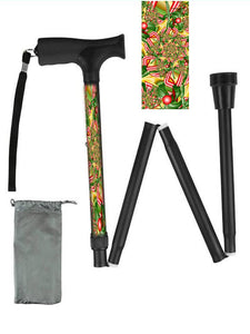 Fun Fractal Art Folding Walking Canes only $39.99!